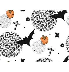 hand drawn seamless halloween abstract vector image