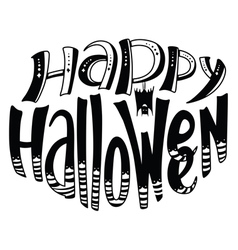 Happy Halloween lettering composition vector image vector image