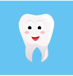 Healthy Tooth with Happy Face vector image