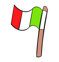 italy flag icon cartoon vector image