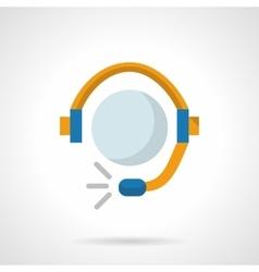 Online service flat color design icon vector image