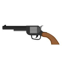revolver gun pistol vintage handgun weapon white vector image