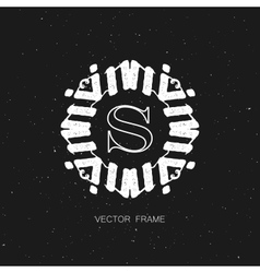 art-deco frame vector image