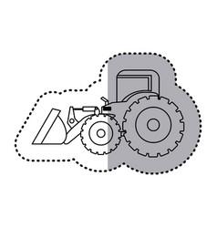 figure backhoe loader icon vector image vector image