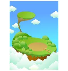 Green landscape over cliff vector image