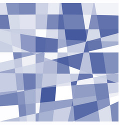 Isolated abstract blue and white color unusual vector