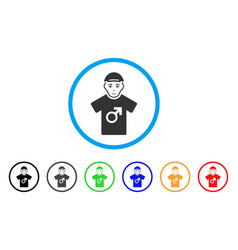 Male rounded icon vector