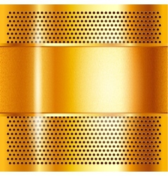 Metal sheet gold vector image vector image