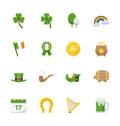 Saint Patricks Day Icons vector image
