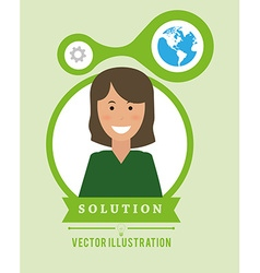 Solution design vector image