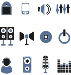 music icons vector image vector image
