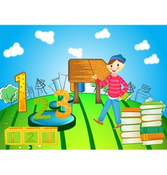 school child vector image vector image