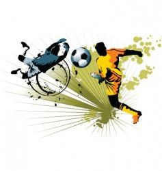 goalkeeper and striker vector image vector image