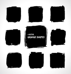 Grunge shapes vector image vector image