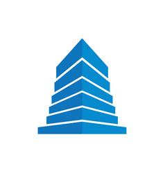 home building company logo vector image vector image