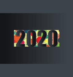 2020 creative design on dark background vector image