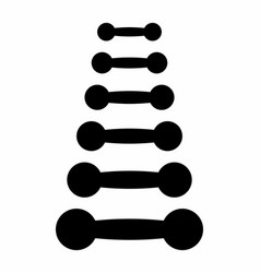 a set of dumbbells vector image