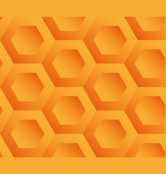 Abstract background orange hexagons vector