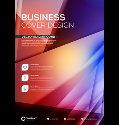 abstract business brochure cover or banner design vector image