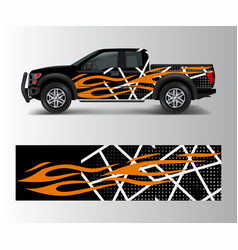 Abstract modern graphic design for truck vector