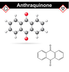 Anthraquinone chemical structure quinone class vector