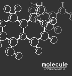 background with molecular structure abstract vector image vector image