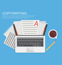 banner copywriting vector image