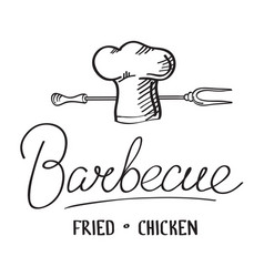 barbecue typographical design concept vector image