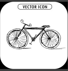 Bicycle hand drawn icon vector