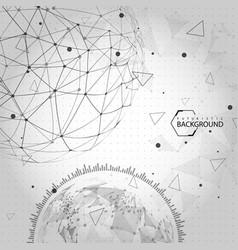 black and white futuristic background vector image