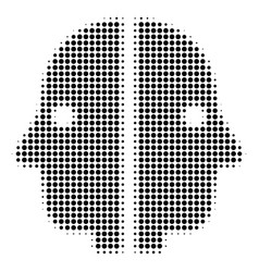 black dotted dual face icon vector image