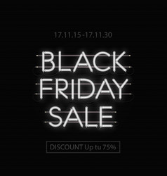 black friday sale design template black friday vector image