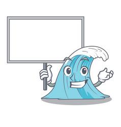 bring board wave character cartoon style vector image