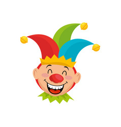 cartoon harlequin icon vector image