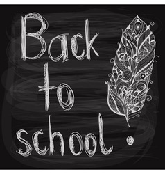 chalk drawn background vector image