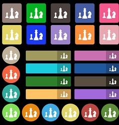 Chess Game icon sign Set from twenty seven vector