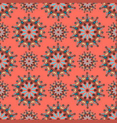 circle ornament pattern vector image