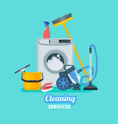 cleaning service household items kitchen spray vector image