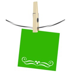clothesline paper vector image