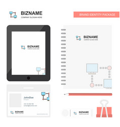 Computer networks business logo tab app diary pvc vector