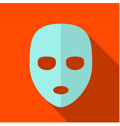 Cosmetic mask flat icon vector