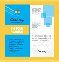 curtain company brochure title page design vector image