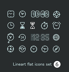 Different modern media web application icons vector image