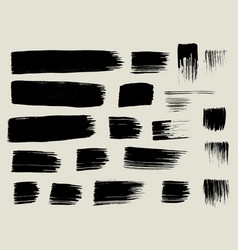 Dry brush stroke texture collection vector