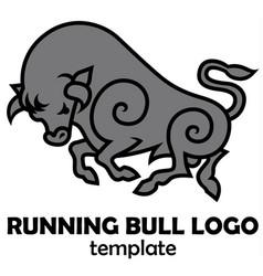 energetic galloping bull vector image