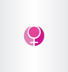 Female gender symbol design vector