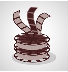 Film reel and movie design vector