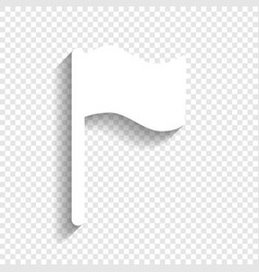Flag sign white icon with vector