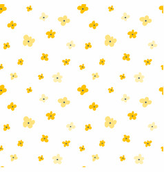 floral seamless pattern with yellow flowers vector image