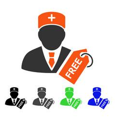 Free medic flat icon vector